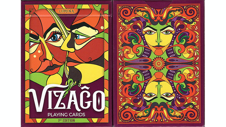 VIZAGO Lumina (Red) Playing Cards